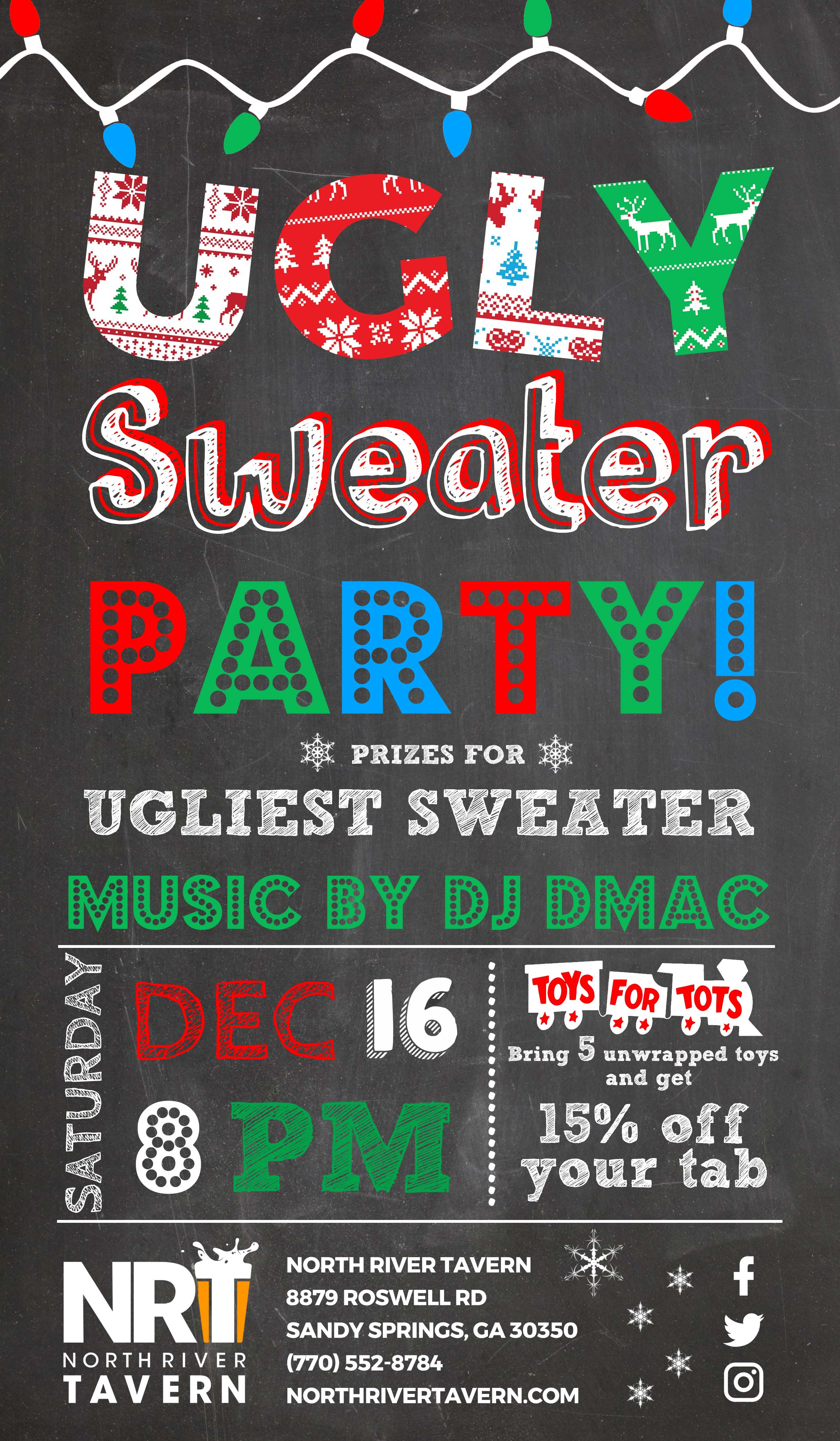 Ugly Sweater Party North River Tavern